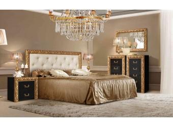 Спальня Тиффани Премиум 3 (черный, золото)