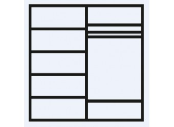 Четырехстворчатый шкаф для одежды Тиффани Премиум ТФШ2/4(П) (черный, серебро)