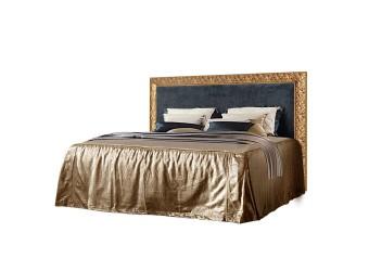 Двуспальная кровать с подъемным механизмом Тиффани Премиум ТФКР-3(П) с мягкой спинкой (золото)