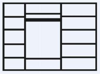 Пятистворчатый шкаф для одежды с зеркалом Тиффани Премиум ТФШ1/5(П) (черный, золото)