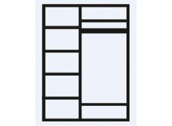 Трехстворчатый шкаф для одежды с зеркалом Тиффани Премиум ТФШ1/3(П) (черный, золото)