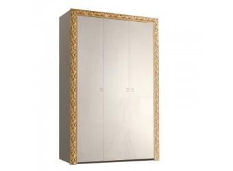 Трехстворчатый шкаф для одежды Тиффани Премиум ТФШ2/3(П) (слоновая кость, золото)