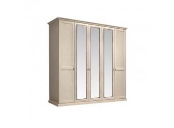 Пятистворчатый шкаф для одежды с зеркалом Венеция ВНШ1/5 (дуб седан)