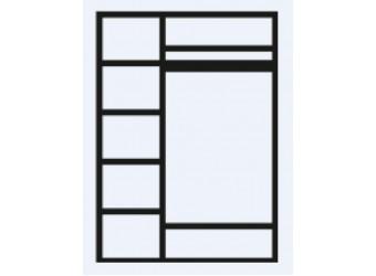 Трехстворчатый шкаф для одежды Венеция ВНШ2/3 (дуб седан)