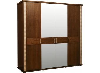 Шкаф для одежды «Тунис» П344.09 (венге с золочением)