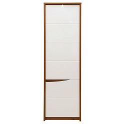 Шкаф-пенал Монако П 510.12-1 с подсветкой (дуб саттер/белый глянец)