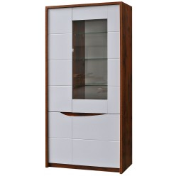 Шкаф-витрина Монако П510.05-1 (дуб саттер/белый глянец)